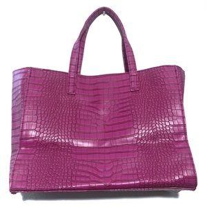 Estée Lauder Crocodile Tote in pink